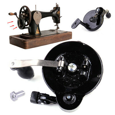 Hand Crank Fit Singer Spoked Wheel Treadle Sewing Machines 15 class,127,128 etc.
