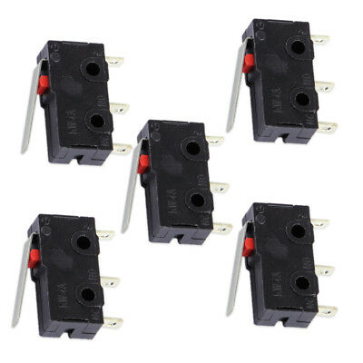 5x Momentary Micro Limit Switch AC DC 125V 5A KW4-3Z-3 For Mill CNC Hinge Lever