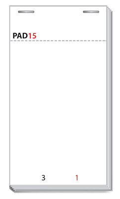 PAD15 Restaurant / Waitress Order Pad (100 Pads) from MR PAPER®