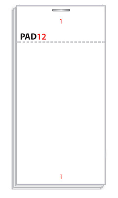 PAD12 Restaurant / Waitress Order Pad (100 Pads) from MR PAPER®
