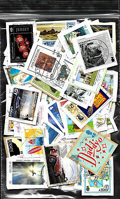 Over 100 Mixed C.I./I.O.M. stamps from Kiloware on paper CI 2017/25