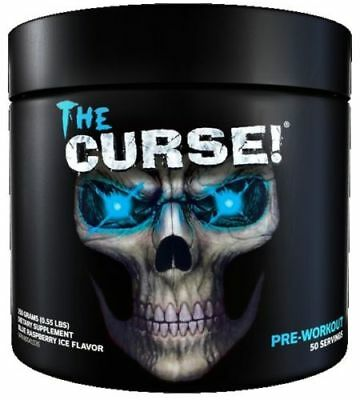 Cobra Labs The Curse Pre Workout 50 Servings Strong Energy Drink Blue Raspberry