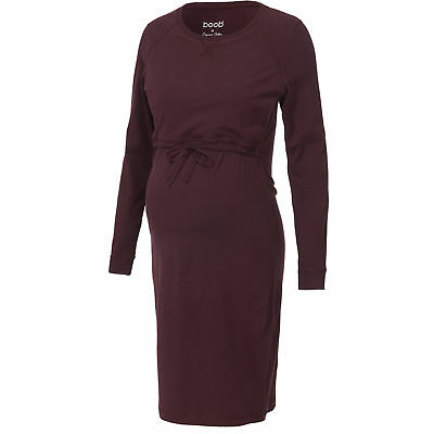 Neu boob Stillkleid B·Warmer Organic Cotton bordeaux 6039395