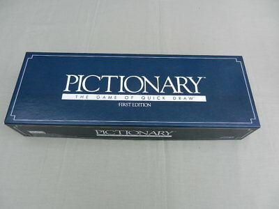 PICTIONARY Vintage BOARD GAME First Edition Parker Brothers 1988