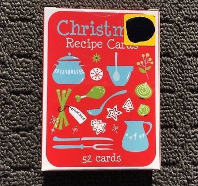 CHRISTMAS RECIPE CARDS Novelty Festive Cooking Baking Instructions (52 Cards)