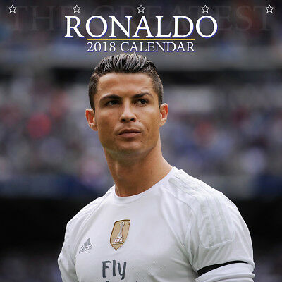 Cristiano Ronaldo 2018 Calendar with FREE Pullout Poster : Real Madrid Star