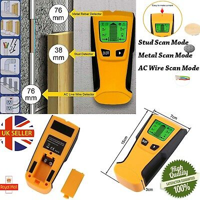 Stud Wood Wall Center Finder Scanner Metal AC Live Wire Rebar Detector LCD