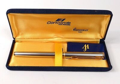 Stylo plume Waterman Concorde Air France plume or massif 18K coffret logo