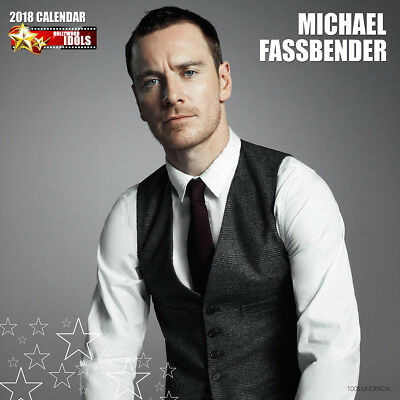 Michael Fassbender 2018 Calendar with FREE Pullout Poster