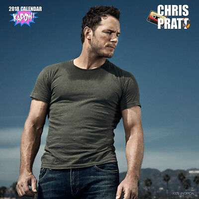 Chris Pratt 2018 Calendar with FREE Pullout Poster : Guardians Of the Galaxys
