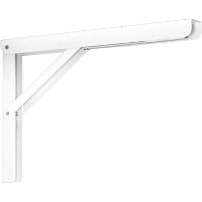 Folding Shelf Bracket Heavy Duty Laundry Collapsible 12 in White