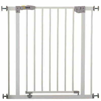 Hauck White Open N Stop Metal Pressure Safety Gate & 9Cm Extension 75 Cm - 90 Cm