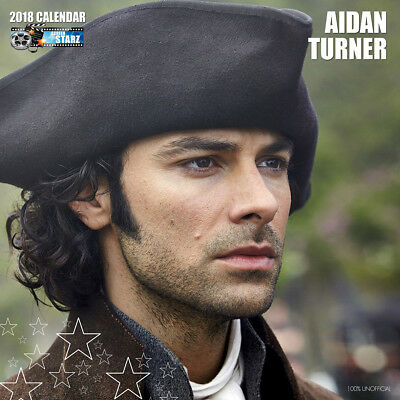 Aidan Turner 2018 Calendar with FREE Pullout Poster : Poldark Star
