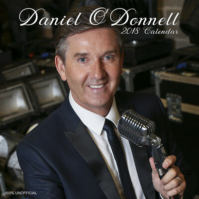 Daniel O'Donnell 2018 Calendar with FREE Pullout Poster