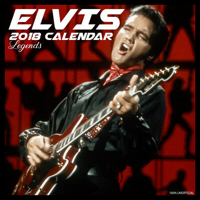 Elvis Presley Legend 2018 Calendar with FREE Pullout Poster