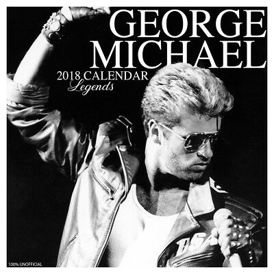 George Michael Legend 2018 Calendar with FREE Pullout Poster