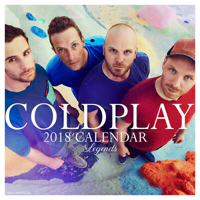 Coldplay Legend 2018 Calendar with FREE Pullout Poster