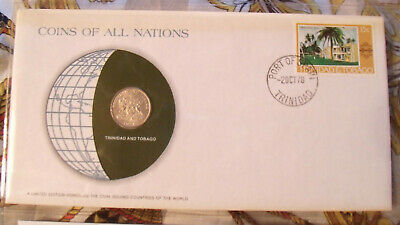 Coins of All Nations Trinidad and Tabogo 25 cents 1976 UNC