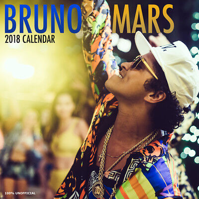 Bruno Mars 2018 Calendar with FREE Pullout Poster