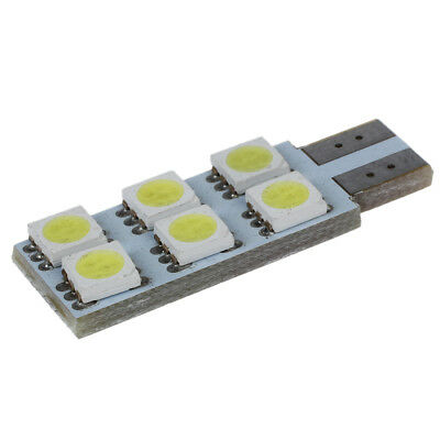 5X(2 x 5050 SMD 6 LED T10 194 W5W canbus Gluehbirne Lampe Weiss DC 12V A8R8)