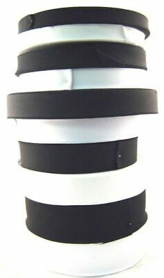 ** 25 Meters (Whole Roll) of Black or White Flat Woven Elastic