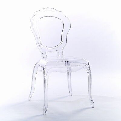 Niches V2 Ghost Clear Transparent Vanity Dressing Dining Chairs Acrylic Style Uk 79 00 Picclick Uk