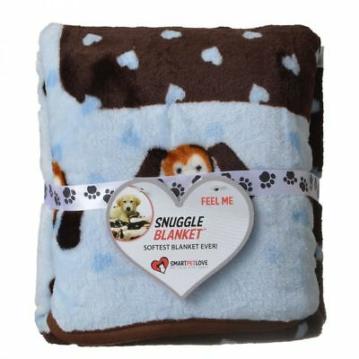 Smart Pet Love Snuggle Heart Blankets in Pink,Blue, or Brown  Ultra-soft fabric