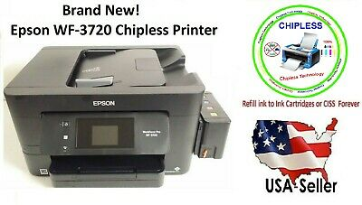 EPSON WORKFORCE PRO WF-3720 With ChipsLess Motherboard Printer & Built-on  Tank