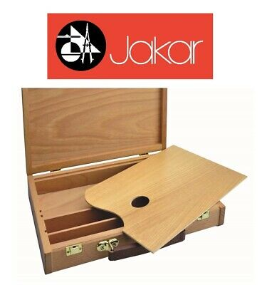 Jakar Wooden Sketch Box Palette Art Case Carry Case Beechwood Walnut Chest 6633