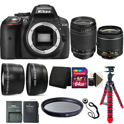 Nikon D5300 24.2MP D-SLR Camera with 70-300mm Lens + Deluxe Top Accessory Bundle