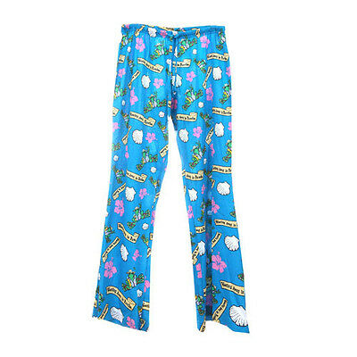 Peace Frogs Wasting Away In Paradise Small Adult Pj Bottoms