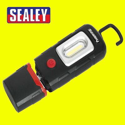 Sealey LED3601 BLACK Rechargeable 360° Inspection Lamp 2w Cob 1w Led New
