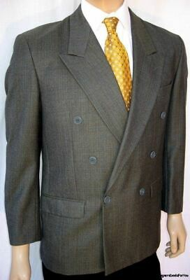 40S Vintage YVES SAINT LAURENT Blazer - Men 40 Green Plaid DB France