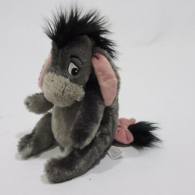 "Disney Parks Winnie The Pooh EEYORE 9"" Bean Bag Toy Plush Stuffed Animal Small"