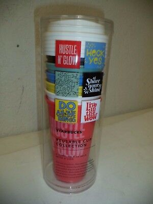 622d7c83fea Starbucks Reusable Cup Collection Lot Of 6 Cups 16 Oz New 2017 Collectible