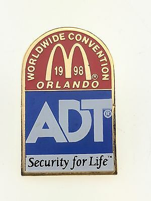 McDonald's Worldwide Convention 1998 Pin Orlando ADT Security for Life Employee