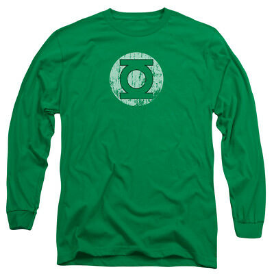 GREEN LANTERN LOGO Distressed Vintage Style Adult Long Sleeve T-Shirt S-3XL