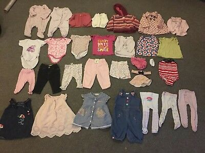 3-6 Month Girls Bundle 26 items including new pair of pants/trousers (Bundle 1)