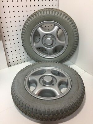 2 Wheels & Tires 3.00-8 Solid Foam Filled Invacare TDX SP Power Wheelchair 14X3