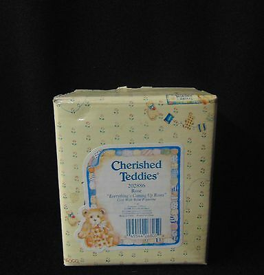 "Cherished Teddies ""ROSE - ""Everything's Coming Up Roses"" Figurine Enesco 1996"