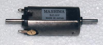 Mashima 1630 12v DC 5 pole motor - 16mm wide x 30mm long - Dual shaft
