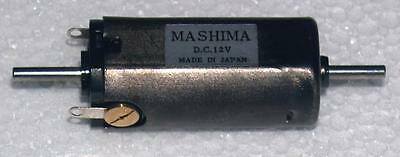 Mashima 1632 12v DC 5 pole motor - 16mm wide x 32mm long - Dual shaft