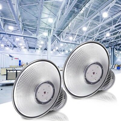 "DELight® 2PCS 150W 18"" LED High Bay Light 16000lm Bright White Factory Industry"