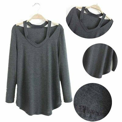 Women's  Long Sleeve V-Neck Tank Top T Shirt  Blouse Jumpers Fall Loose Pullover
