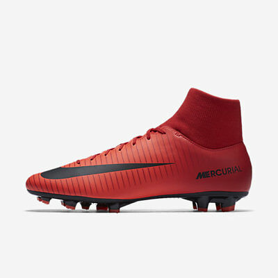 Nike Men's Mercurial Victory VI DF FG Cleats (University Red/Black) 903609 616*