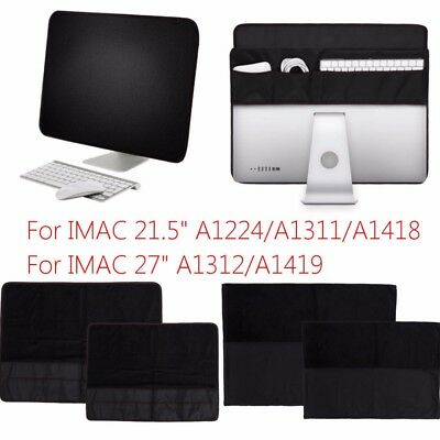 "PU Computer Dust Cover Protective Dust Screen Cover Sleeve For 21.5""/27"" IMac"