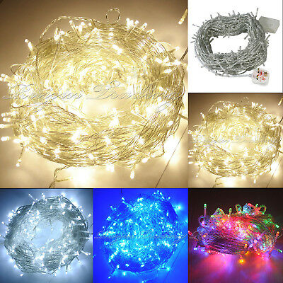 100/200/300/400/500 Warm White LED String Fairy Lights Xmas Christmas Party Lamp