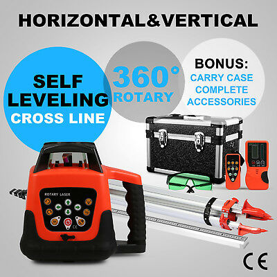 Green Rotary Laser Level 1.65M Tripod 5M Staff Outdoor Green Beam Self-Leveling