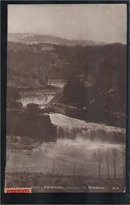 128.685  Freiburg, Fribourg, Suisse, Le Barrage, Wasserfall, Foto-AK