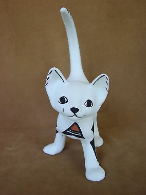 Native American Pottery Hand Painted Standing Cat Sculpture! Acoma Indian
